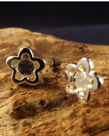 Silver Daisy Studs For 5MM Stone