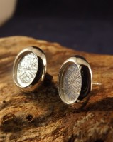 Silver Cushion Edge Ear Studs For Mounting Stones (for 10x8,6mm,8x6 Cabs)