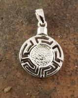 Greek Style Silver Pendant Mount 8mm Stone