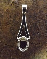 Very Popular Silver Pendant Setting For 6x4