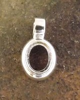 Plain  Pendant Setting For Mounting 10x8 Cabochon