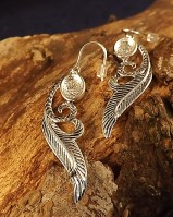 Silver Antique Finish Drop Earrings For Setting 8x6 Stone
