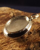 18x13 Silver Locket Mount Suitable For Resin Or Cabochons