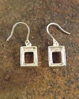 8x6 Square Silver Ear Drop Mounts
