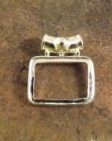 Square Pendant Setting 22x6