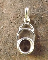 Unset Silver Pendant For 8mm Stone Cabochon