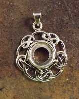 Celtic Pendant Setting 13mm Stone Reduced