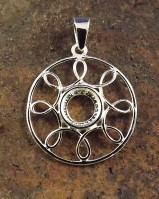8mm Silver wire  Pendant Setting