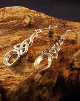 Celtic Silver Drop Earrings Mountings For 7x5 Cabochon