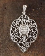 10x8 Filigree Pendant Mounting For Cabochon