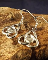 5mm Silver Celtic Unset Drop Earring Mounts