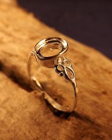 Celtic Ring Setting For 8x6mm Cabochon