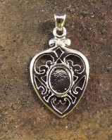 Heart Shapped Silver Pendant Setting 8x6