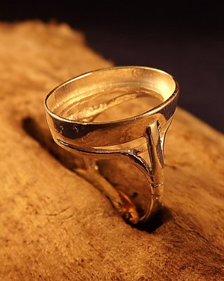 Plain Edge Cabochon Mount Ring Setting