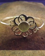 Silver Bangle Suitable For Resin Or To Set 8mm Cabochon