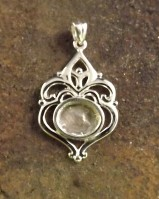 Silver Heart Pendant Settting To Take 10x8 Stone