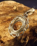 Silver Pendant Setting For Cabochon