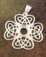 Antique Silver Celtic Style Pendant To Set 8mm Stone