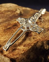 Silver Celtic Cross Unset For 5mm Stone