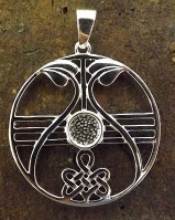 Silver Celtic Style Pendant For 6mm Cabochon
