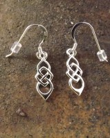 Silver Celtic Earrings {no Stone}