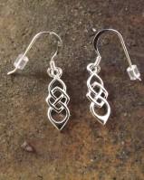 Silver Celtic Earrings {no Stone}