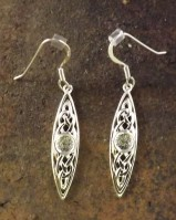 Silver Celtic Drop Earrings Mounts For 5mm Cabochon