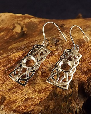 Silver Celtic Drops For Setting 5mm Gemstone