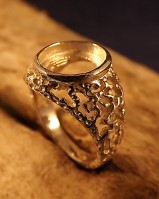 10x8 Heavy Filigree Style Ring Setting