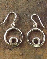 Silver Eardrops to glue in 6mm Stone