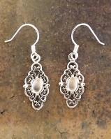 Silver 6x4 Drop Earring Mount