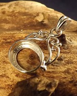 Silver Fob Mount Setting For 14x10 Stone