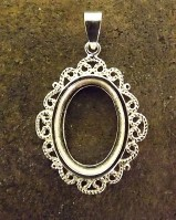 Frill Edge Pendant Mount For Cabochons