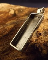 Oblong Solid Back Pendant Setting For Your Own Stones