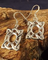 Celtic Drops Earrings Blanks 8x6 Stone
