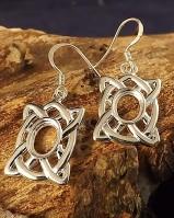 Celtic Drops Earrings Blanks 8x6 Stone