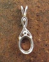 Silver Celtic Pendant Mount For Setting 10x8 Stone