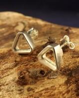 Silver Triangular Ear Stud For 6x4 Stone