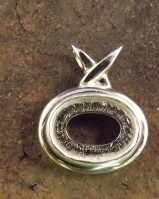 Silver Pendant Setting 18x13 Cabochon