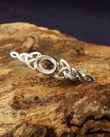 Silver Celtic Brooch Unset To Fit 7x5 Cabochon