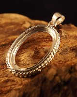 Solid Silver Double Rope Pendant Mount