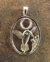 Bird Pendant Setting For 6mm Cabochon