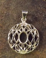 8x6 Sterling Silver Celtic Pendant For Setting