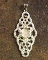 Filigree Pendant For 8x6 Stone