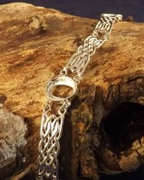 Celtic Unset Bracelet Mounts To Fit 3 10x8 Stones