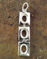 Silver Pendant To Take 3 7x5 Cabochons