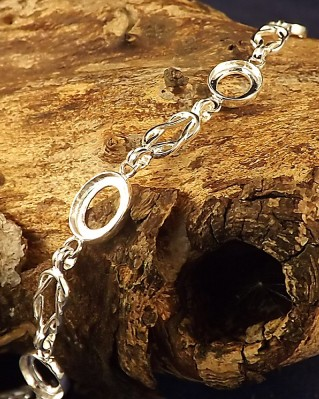 Celtic Style Bracelet Without Stones For Setting For 5 10x8 Stones