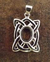 Celtic knot Pendant For 8x6 Cabochon