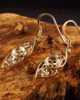 Silver Celtic Drops For 5mm Cabochon