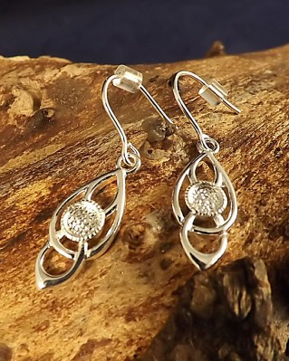 Silver Celtic Earrings For 4mm Cabochon